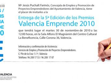 Invitación Premios Valencia Emprende 2010